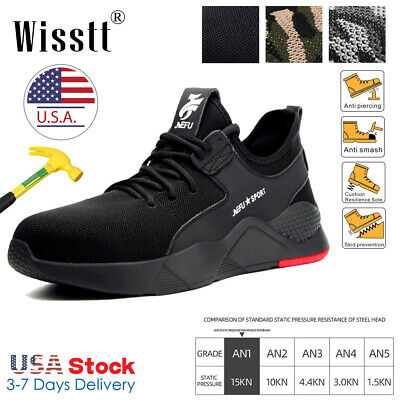Men's Safety Work Shoes Steel Toe Work Boots Indestructible Bulletproof Sneakers