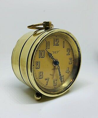 Great looking solid Brass French Travel Clock Circa 1920