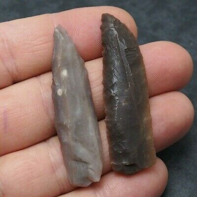2x Prehistory Lithic Tools Weapons Darts Various Neolithic 6,400 Years Old