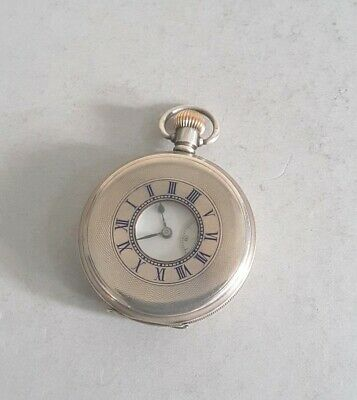 Nice Antique Solid Silver Cased 1/2 Hunter Pocket Watch.    W./O.    Birm. 1912.