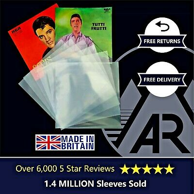 "100 7"" Inch 250g Gauge Plastic Polythene Record Sleeves - 45RPM Vinyl Covers"