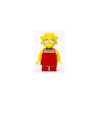 sim003 NEW LEGO Bart Simpson Eyes Looking Left FROM SET 71006 The Simpsons