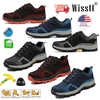 Men's Work Safety Indestructible Shoes Steel Toe Sport Construction Sneakers USA