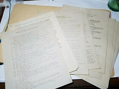 Lot Of Scientific Papers, Maine Minerals, Perham's Maine Mineral Store Archives