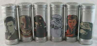 Star Wars Complete Set of 6 Watches Burger King 2005 Sealed in Tins