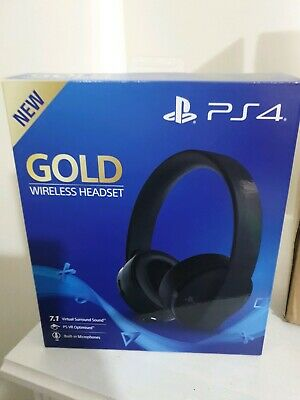 Sony Playstation gold headset perfect condition, only used for a little while