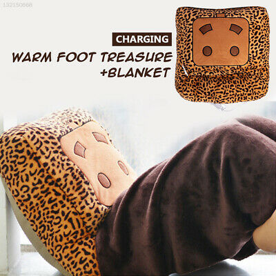 Warm Hand Feet Warmer Leopard Multi Function Winter Home Washable USB Blanket