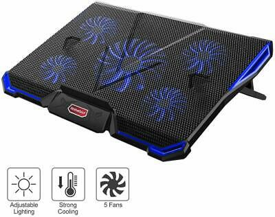 Laptop Cooling Pad 10-17 inch Gaming Laptop USB Fan Cooler with 5 Fans HC