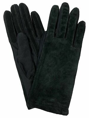 VTG Isotoner Leather Stretch Classics Water Resistant Suede Fleece Gloves NWOT