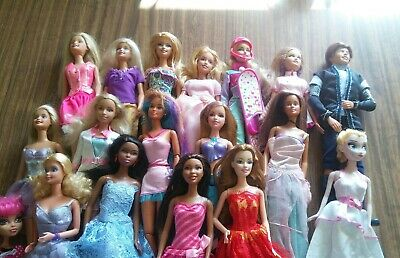 Bulk Lot of 15 Barbie Dolls +3 ..... Pre-owned