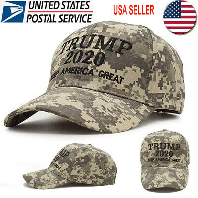 Trump 2020 Hat Digital Camo Keep America Great MAGA Embroidered Camouflage USA