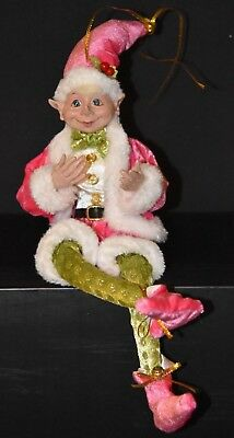 Christmas Elf  46cm, Pink and Green