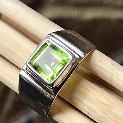 Solid 925 sterling silver Peridot Gemstone Ring Arabic ring Mens Love Ring F261