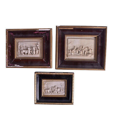 Early 19th century Antique Carved Stone Panels - Set of 3