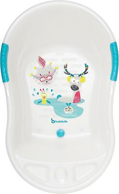 Badabulle FUN ERGONOMIC BABY BATHTUB - WHITE Toddler Child Bath Time BNIP
