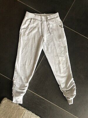 Next Girls Grey Cropped Joggers / Tracksuit Bottoms - Age: 8 Years