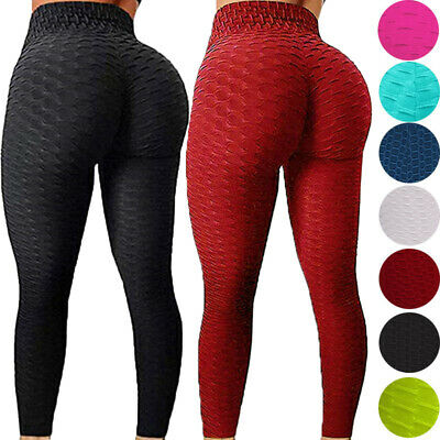 Women Yoga Pants Anti Cellulite Ruched Scrunch Leggings Sports Fitness Trousers