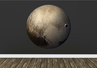 Pluto Planet Space Realistic Science  Wall Art Sticker Decal Transfer Mural