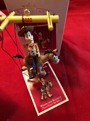 Hallmark Keepsake Ornament 02 Woody and Bullseye Disney Pixar's Toy Story 2 NIB
