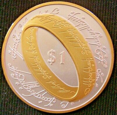 New Zealand Coins 1 Dollar 2003 , The Lord Of The Rings.