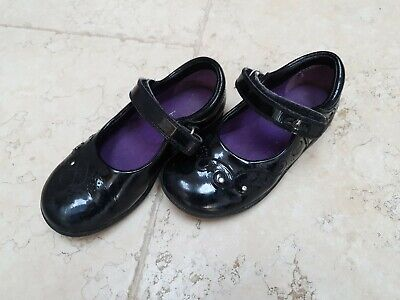Clarks Girls Child's Leather School Shoes Size 8