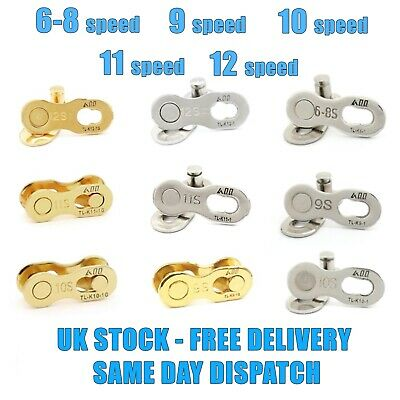 2 pairs Silver 11 Speed MasterMissing Chain Quick Link For Shimano bike Chains