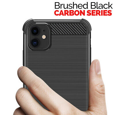 CARBON Case For iPhone 11, 11 Pro Max Cover Silicone Gel Shockproof Protective