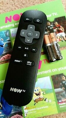 Now TV remote control. Genuine. Original + New duracell batteries . nowtv
