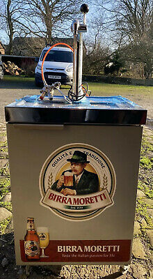 Birra Moretti Draught Beer Pump, Fridge, Mobile, NEW Mobile Bar