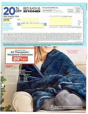 Lot of 10 BED BATH & BEYOND - exp 1/6/20 - 20% off one single item BBB Coupons