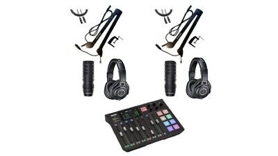 Podcast/Streaming Audio Upgrade Intermediate Package w/ Rodecaster, Accessories