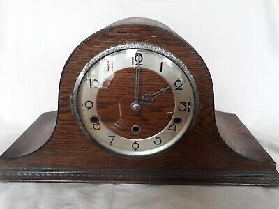 Old Wooden cased Chiming Mantle Clock - no key
