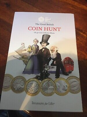 The Great British Coin Hunt UK £2 Two Pound Coin Collector Album With 27 Coins