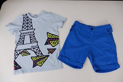 Kenzo Kids Outfit Set Shorts & T Shirt Top Age 10 Years Size 140 VGC Boys