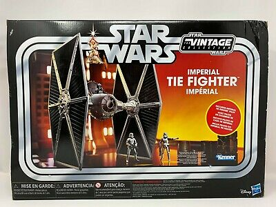 "Hasbro Star Wars Vintage Collection IMPERIAL TIE FIGHTER 3.75"" Scale Vehicle"