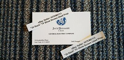 "ALEC BALDWIN's ""30 ROCK"" TV Show Prop Business Card as JACK DONAGHY, G.E. CEO"