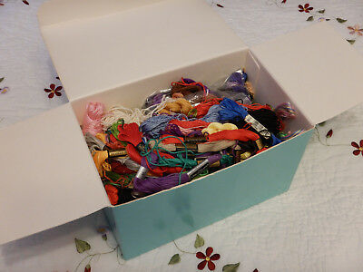 Harvest of vintage Hand Embroidery Floss + VTG/pre-own TIFFANY & Co. Blue Box