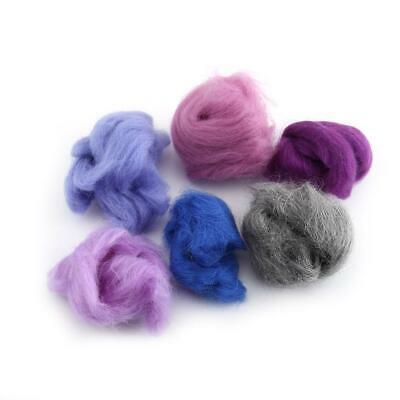 36 Colors Fibre Wool Roving For Needle Felting Spinning DIY Craft Material Set