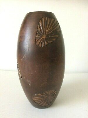Inspired Carved Wooden Vase