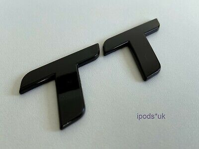Brand New High Quality Gloss Black Audi TT MK 2 Rear Badge Quattro S Line RS