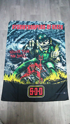 Stormtroopers of death SOD S.O.D. bigger than the devil music logo poster FLAG