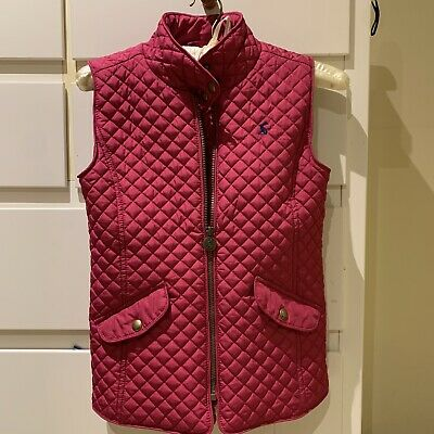 Girls Joules Pink Gilet Age 9-10