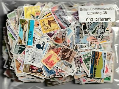 British Empire & Commonwealth without GB : 500 Different Stamps