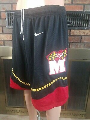 Vintage NIKE MARYLAND TERRAPINS TERPS NCAA Team Basketball Shorts Mens Sz Large