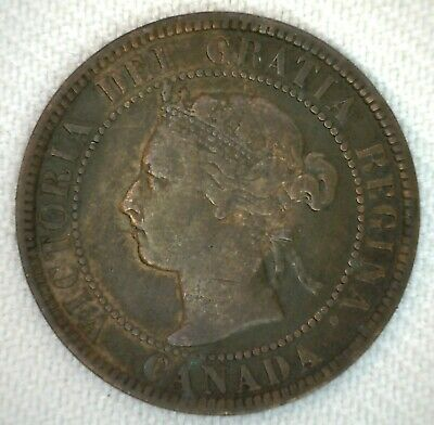 1901 Canada One Cent Coin 1C Bronze You Grade