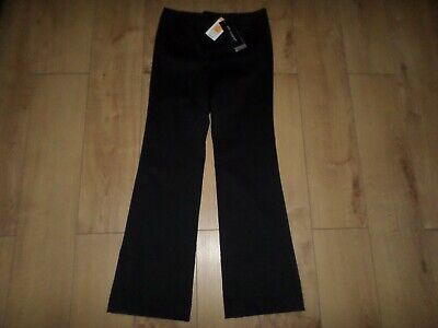 Marks & Spencer Autograph Black Smart Trousers With Stretch Size 10 Long Bnwt