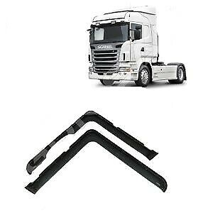 Scania R Series Window Wind Rain Deflectors Smoke Tinted For Lhd 2004-2016