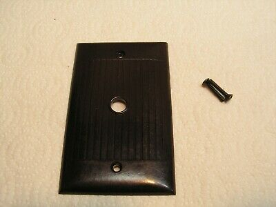 "Vintage  Sierra Brown Ribbed Cable 3/8"" Cover Plate with 2 New Screws....."