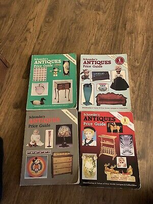 Lot of 4 SCHROEDER'S ANTIQUES Price Guide  1988,1989,1991,2002