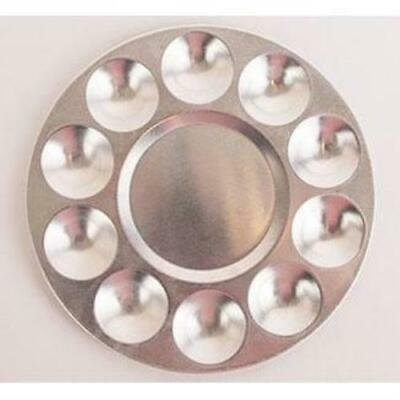 10 Well Silver-Colored Aluminum Tray (Palette)- #1509
